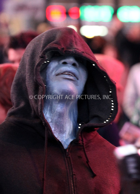 WWW.ACEPIXS.COM....April 15 2013, New York City....Actor Jamie Foxx shots a scene in Times Square as his character Electro for the new movie 'The Amazing Spiderman 2' on April 15 2013 in New York City......By Line: Zelig Shaul/ACE Pictures......ACE Pictures, Inc...tel: 646 769 0430..Email: info@acepixs.com..www.acepixs.com