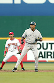 Washington, D.C. - June 16, 2006 -- New York Yankee outfielder Bernie Williams (51) takes a lead from second base in game action against the Washington Natiopnals at RFK Stadium in Washington, D.C. on June 16, 2006..Credit: Ron Sachs / CNP