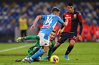 Dries Mertens of Napoli and Ionut Radu of Genoa<br /> Napoli 09-11-2019 Stadio San Paolo <br /> Football Serie A 2019/2020 <br /> SSC Napoli - Genoa CFC<br /> Photo Cesare Purini / Insidefoto
