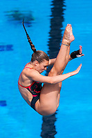 Picture by Alex Whitehead/SWpix.com - 13/04/2018 - Commonwealth Games - Diving - Optus Aquatics Centre, Gold Coast, Australia - Alicia Blagg of England competes in the Women's 1m Springboard prelims.