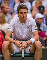 London, England, 8 July, 2019, Tennis,  Wimbledon, Men's singles: Ugo Humbert (FRA)<br /> Photo: Henk Koster/tennisimages.com