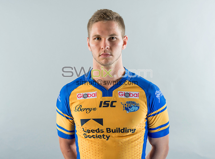 Picture by Allan McKenzie/SWpix.com - 18/01/17 - Rugby League - BetFred Super League - Leeds Rhinos Media Day 2017, Headingley Carnegie Stadium, Leeds, England - Matt Parcell.