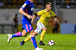 Javier Patino Lachica of Buriram (R) in action during the Preseason Friendly Match between Kitchee and Buriram United at Mong Kok Stadium on August 18, 2018 in Hong Kong. Photo by Marcio Machado/Photo by Marcio Machado/Power Sport Images