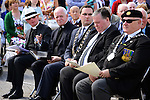 At the WW1 commemoration were (from left): Rev Peter Rutherford, Fr. John Conlon, Mayor of Drogheda Kevin Callan, Cllr. Paul Bell and Jim Fay of ONE. Picture: www.newsfile.ie