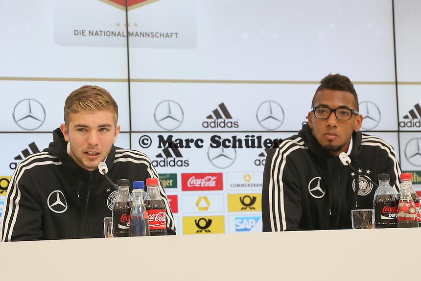 Christoph Kramer und Jerome Boateng - Pressekonferenz der Deutschen Nationalmannschaft   im Rahmen der WM-Vorbereitung in St. Martin