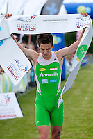 13 JUN 2010 - BEAUVAIS, FRA - Jonathan Brownlee wins the Beauvais round of the French Grand Prix triathlon series.(PHOTO (C) NIGEL FARROW)