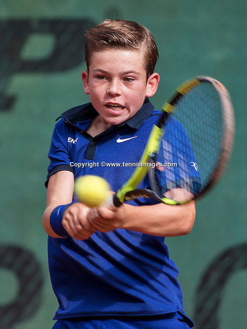 Hilversum, Netherlands, August 13, 2016, National Junior Championships, NJK, Daniel Verbeek  (NED)<br /> Photo: Tennisimages/Henk Koster