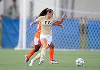 Florida International University women's soccer player Chelsea Leiva (2) plays against the University of Florida on August 21, 2011 at Miami, Florida. Florida won the game 2-0. .