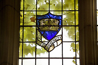 Yale Crest in Stained Glass Window Univ. of Michigan Law School Library