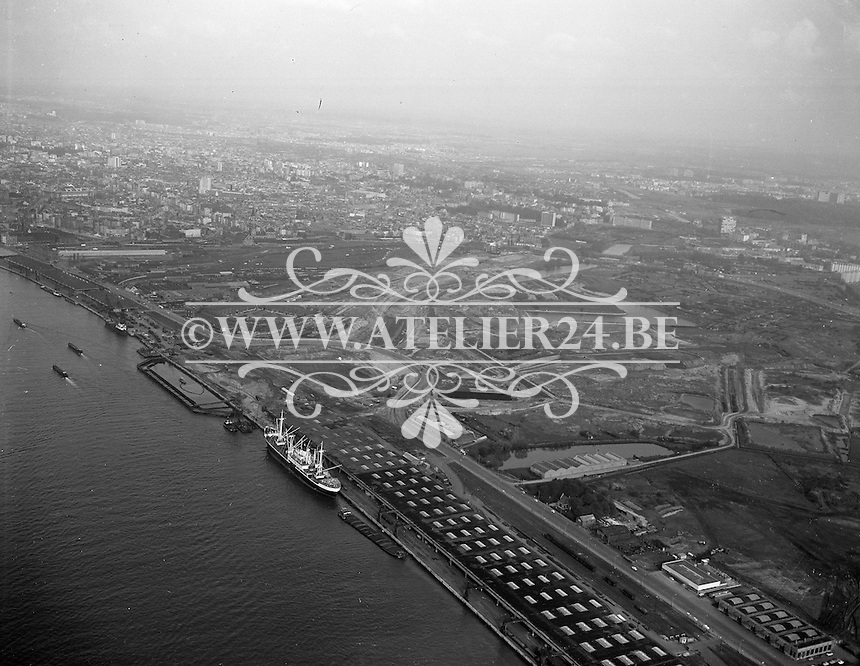 Mei 1965. Bouwwerken E3 in Antwerpen.