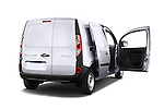 Rear three quarter door view of a 2013 - 2014 Renault Kangoo Express Maxi 5 Door Mini Mpv.