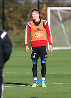 Pictured: Federico Fernandez Wednesday 05 November 2014<br /> Re: Swansea City FC players training at Fairwood training ground, ahead of their Premier League game against Arsenal on Sunday.
