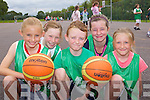 At the team Kerry Basketball camp at Mounthawk School on Thursday were: Olivia Nix, Amy Pollmann-Daamen, Daragh Broderick, Maggie Sugrue, Caoimhe Edwards.