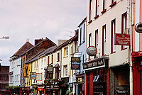 High Street, the principal street in the town of Killarney, Ireland