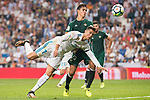 Real Madrid's Cristiano Ronaldo and Real Betis's Aissa Mandi during La Liga match between Real Madrid and Real Betis at Santiago Bernabeu Stadium in Madrid, Spain September 20, 2017. (ALTERPHOTOS/Borja B.Hojas)
