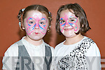 PAINTED FACES: Mary Theresa Quillgan and Una Brodrick enjoying the face painting at the Sliabh Luachra Fun Day at the Castleisland Community centre on Sunday.    Copyright Kerry's Eye 2008