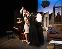 London, UK. 17.07.2014. Mountview Academy of Theatre Arts presents THE HOUSE OF BLUE LEAVES, by John Guare, directed by Jacqui Somerville, at the Unicorn Theatre, as part of the Postgraduate Season 2014. Picture shows: Claudia Campbell (Little Nun), Amy Cornwell (Corrina Stroller), Suzy Whitefield (Second Nun) and Jasmine Horn (Head Nun). Photograph © Jane Hobson.