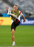 Bastian Schweinsteiger of Germany during training ahead of tomorrow's semi final vs Brazil