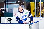 Stockholm 2014-10-02 Ishockey Hockeyallsvenskan AIK - BIK Karlskoga :  <br /> BIK Karlskogas m&aring;lvakt Mattias Modig <br /> (Foto: Kenta J&ouml;nsson) Nyckelord:  AIK Gnaget Hockeyallsvenskan Allsvenskan Hovet Johanneshovs Isstadion Bofors BIK Karlskoga portr&auml;tt portrait