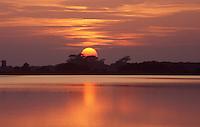 Sunset over Horsey Mere, Norfolk