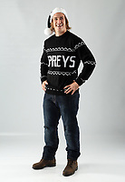 Pictured: Jeff Hassler of the Ospreys<br /> Swansea City FC and Ospreys RFC Christmas photo shoot at the Fairwood Trainining Ground, near Swansea, Wales, UK. 17 October 2017