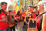 11.09.2014 Barcelona. Catalonia national day. More than 1.800.000 people meet in Barcelona to try to vote nest 9november
