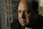 ©2005  David Burnett/Contact  .davidb383@aol.com.July 15, 2005.Washington DC..Time Magazine reporter Matthew Cooper, at the TIME offices in Washington DC..Contact Press Images.New York NY.212 695 7750