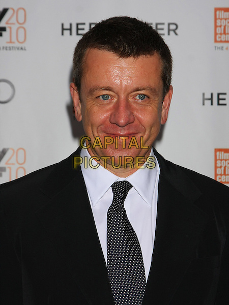"PETER MORGAN .attends the Gala screening of ""Hereafter"" on the Closing Night of the 48th New York Film Festival at Alice Tully Hall, Lincoln Center,  New York, NY, USA, October 10th, 2010..portrait headshot black tie .CAP/LNC/TOM.©LNC/Capital Pictures."