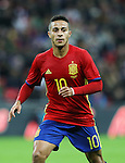 Spain's Thiago in action during the friendly match at Wembley Stadium, London. Picture date November 15th, 2016 Pic David Klein/Sportimage