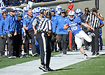 October 24, 2015 - Colorado Springs, Colorado, U.S. - Air Force quarterback, Karson Roberts #16, is unable to stay in bounds during the NCAA Football game between the Fresno State Bulldogs and the Air Force Academy Falcons at Falcon Stadium, U.S. Air Force Academy, Colorado Springs, Colorado.  Air Force defeats Fresno State 42-14.