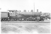 Engineer side view of K-37 #494 at Salida.<br /> D&amp;RGW  Salida, CO  Taken by Maxwell, John W. - 1939
