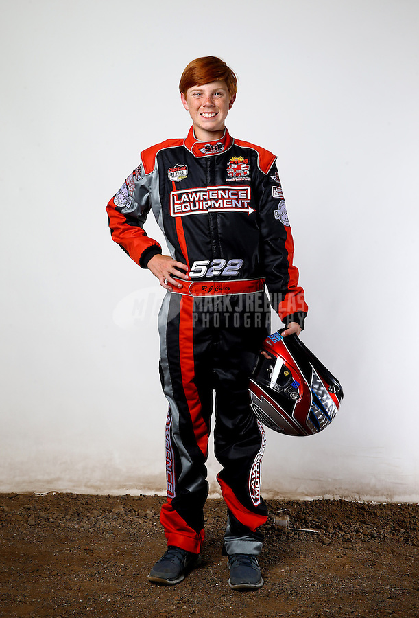 Mar. 21, 2014; Chandler, AZ, USA; LOORRS modified kart driver Ryan Carey poses for a portrait prior to round one at Wild Horse Motorsports Park. Mandatory Credit: Mark J. Rebilas-USA TODAY Sports