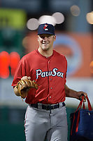 Pawtucket Red Sox pitcher Ty Buttrey (41) after a game against the Rochester Red Wings on July 4, 2018 at Frontier Field in Rochester, New York.  Pawtucket defeated Rochester 6-5.  (Mike Janes/Four Seam Images)