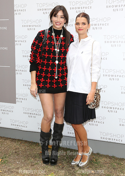 Daisy Lowe and Pixie Geldof arriving at the Unique catwalk show as part of London Fashion Week SS13, Top Shop Venue, Bedford Square, London. 16/09/2012 Picture by: Henry Harris / Featureflash
