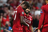 Divock Origi of Liverpool celebrates with Mohamed Salah of Liverpool after scoring the goal of 0-2 <br /> Madrid 01-06-2019 Estadio Wanda Metropolitano, <br /> Football UEFA Champions League 2018/2019<br /> Final 2019 <br /> Tottenham - Liverpool <br /> Foto Cesare Purini / Insidefoto