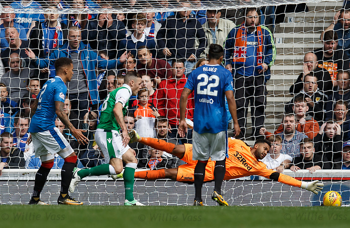James Tavernier scores an OG to put Hibs in the lead