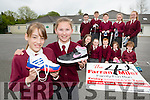 Olivia Gleeson and Ruth Daly are in training for the Konckaderry NS Farran4 Miler race which will be held on Friday 20th May with front  l-r: Rachel Murphy, Laura Flynn, Colin Callaghan, Ciara Flynn, daniel Gleeson. Back row: Darren Deniel, Brian Burke, Andrew Moynihan, Sarah Dunleavy and Katie Brosnan