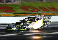Sep 3, 2016; Clermont, IN, USA; NHRA funny car driver Alexis DeJoria during qualifying for the US Nationals at Lucas Oil Raceway. Mandatory Credit: Mark J. Rebilas-USA TODAY Sports