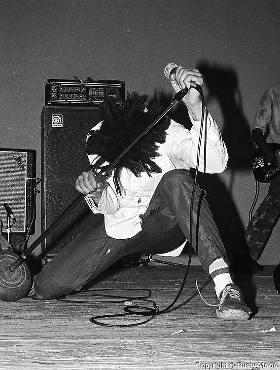 H.R. of the Bad Brains, Charlotte NC 1982.