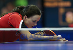 Glasgow 2014 Commonwealth Games<br /> Megan Phillips (wales) partnering her sister Angahard in the doubles Vanuatu.<br /> Scotstoun Table Tennis<br /> <br /> 25.07.14<br /> ©Steve Pope-SPORTINGWALES