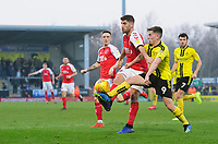 Fleetwood Town's Ched Evans vies for possession with Burton Albion's Joe Sbarra<br /> <br /> Photographer Chris Vaughan/CameraSport<br /> <br /> The EFL Sky Bet League One - Saturday 23rd February 2019 - Burton Albion v Fleetwood Town - Pirelli Stadium - Burton upon Trent<br /> <br /> World Copyright © 2019 CameraSport. All rights reserved. 43 Linden Ave. Countesthorpe. Leicester. England. LE8 5PG - Tel: +44 (0) 116 277 4147 - admin@camerasport.com - www.camerasport.com