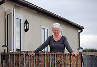 Pictured: 77 year old former Tiller girl Pat Stewart -who was photographed by Bert Hardy in an iconic picture at Blackpool seafront in the 50s- at her static caravan in Llantwit Major in south Wales. Monday 20 June 2011
