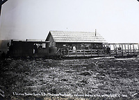 BNPS.co.uk (01202 558833)<br /> Pic: Elstob&Elstob/BNPS<br /> <br /> X Station on the Nome Arctic Railroad - the most northerly railroad station in the world in 1905.<br /> <br /> Fascinating photos documenting the famous Alaska 'gold rush' have come to light 120 years later.<br /> <br /> Thousands of people chasing riches ventured into the North American wilderness after gold was discovered in Nome in 1899.<br /> <br /> Over the next decade a staggering 112 tonnes of gold was sourced.<br /> <br /> Unsurprisingly, everyone wanted a piece of the action, leading to a huge influx of people to the area.<br /> <br /> Its transformation into a thriving metropolis was documented by acclaimed American photographer Frank Nowell.