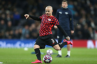 Angelino of RB Leipzig  warms up before Tottenham Hotspur vs RB Leipzig, UEFA Champions League Football at Tottenham Hotspur Stadium on 19th February 2020