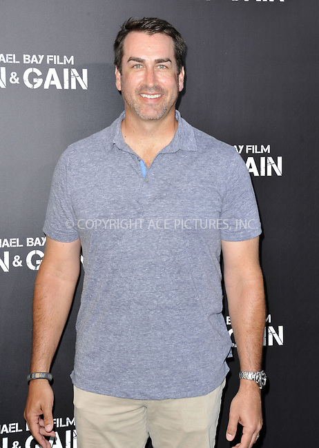 WWW.ACEPIXS.COM....April 22 2013, LA.... Rob Riggle arriving at the 'Pain & Gain' premiere held at TCL Chinese Theatre on April 22, 2013 in Hollywood, California. ....By Line: Peter West/ACE Pictures......ACE Pictures, Inc...tel: 646 769 0430..Email: info@acepixs.com..www.acepixs.com