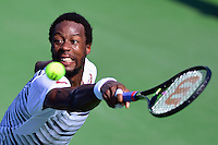 Washington, DC - July 24, 2016: Gael Monfils of France plays a shot during his finals match against Ivo Karlovic of Croatia in the Citi Open at the Rock Creek Park Tennis Center in the District of Columbia, July 24, 2016  (Photo by Don Baxter/Media Images International)