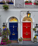 County Cork, Ireland: Colorful doors on the streets of Kinsale