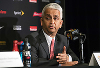 New York, NY - Friday June 24, 2016: Copa America Local Organizing Committee chairman and U.S. Soccer President Sunil Gulati during a press conference prior to the final of the Copa America Centenario at The Westin New York at Times Square.<br /> <br /> Photo during American Cup USA 2016 Press Conference The Westin New York at Times Square---- Foto durante la Conferencia de Prensa previo a la gran final de la Copa America Centenario USA 2016, en la foto: Sunil Gulati<br /> <br /> ---24/06/2016/MEXSPORT/ David Leah.