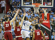 Washington, DC - March 10, 2018: Rhode Island Rams forward Andre Berry (34) makes a layup during the Atlantic 10 semi final game between Saint Joseph's and Rhode Island at  Capital One Arena in Washington, DC.   (Photo by Elliott Brown/Media Images International)