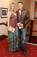 26/8/2010. NO REPRO FEE. Little Gem Opening night.  Jenny Lee Masterson and Robbie Kane are pictured at the Olympia Theatre Dublin for the opening night of Little Gem. Hilda Fay makes her return as Lorraine, Anita Reeves continues in the role of Kay, and Genevieve Hulme-Beaman takes on the role of Amber. After sell-out seasons in New York, London and Paris and a sold-out 7-week run at Ireland's National Theatre, Gúna Nua is bringing its bittersweet comedy Little Gem back to Dublin for 10 shows only at The Olympia Theatre from August 26 to September 4, 2010. Love, sex, birth, death, dildos and salsa classes: Elaine Murphy's award winning Little Gem sees three generations of Dublin women on a wild and constantly surprising journey. Picture James Horan/Collins Photos